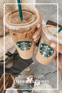 How to modify your Starbucks drinks to be healthier - low calorie & low carb Starbucks drinks are often full of sugar. So here are 11 low-sugar and low-cal healthier Starbucks drinks for you to try out on your next order! Starbucks Diy, Starbucks Recipes, Coffee Recipes, Drink Recipes, Starbucks Order, Secret Menu, Yummy Drinks, Healthy Drinks, Healthy Food