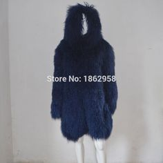 SJ034-02 Custom Sizes Navy Blue Knee Length Overcoat 2017 90CM Tibet Fur Sheep Coats with Hood $794.97   #beautiful #vintage #cute #streetstyle #iwant #fashionista #sweet #beauty #instafashion #swag #model #dress #cool #love #fashion
