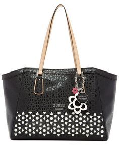 GUESS Bianco Nero Hula Uptown Satchel - All Handbags - Handbags    Accessories - Macy s Guess e2ca13a6cf3e1
