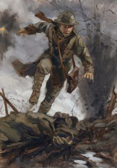 Greg Manchess- a fantastic blog post about one insane illustration assignment on WWI trenches.