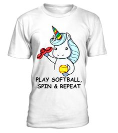 # Unicorn PLAY SOFTBALL, SPIN AND REPEAT .  unicorns t shirt, softball shirt, spin shirt, repeat shirt, unicorns for girls, unicorns baby, unicorns t shirt women, unicorns t shirt men, unicorns t shirt girls, unicorns t shirt kids, funny shirt, hobbies shirt, birthday gift idea, perfect gifts for men, women, son, kids. You can search for the word: TeeOnline to get more beautiful t-shirts and more quality in different genres. Surely you will be satisfied with it.