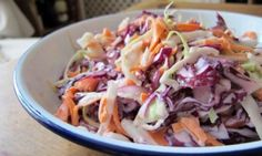 How to make perfect coleslaw, use low fat yogurt/ mayo, whole grain mustard - Coslaw Recipes, Salad Recipes, Cooking Recipes, Savoury Recipes, Lunch Recipes, Healthy Coleslaw Recipes, Homemade Coleslaw, Pulled Pork Recipes, Barbecue Recipes