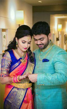 Pattu Saree Blouse Designs, Blouse Designs Silk, Bridal Blouse Designs, Saree Tassels Designs, Pattu Sarees Wedding, Wedding Saree Blouse, Wedding Silk Saree, Bridal Sarees, Engagement Saree