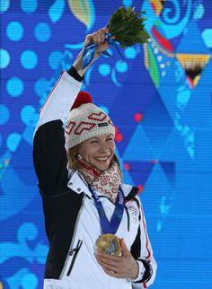 Slovakia: Anastasiya Kuzmina, gold medal women's biathlon 7.5km sprint event at the Sochi 2014 Winter Olympics