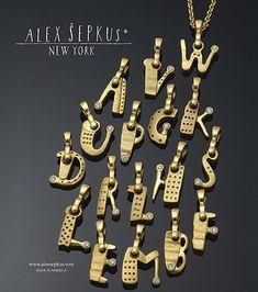 Alphabet Pendants (A-Z)
