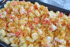 Sweet lobster, creamy cheese & a crunchy panko topping come together to make the BEST Lobster Mac and Cheese recipe! Perfect for any elegant or casual meal! #lobstermacandcheese #easylobstermacandcheese #homemademacandcheese www.savoryexperiments.com Lobster Mac N Cheese Recipe, Lobster Mac And Cheese, Best Mac And Cheese, Mac And Cheese Homemade, Cheese Recipes, Snack Recipes, Baked Mac, Holiday Recipes, Holiday Meals