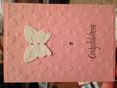 A new baby card in pink for a girl
