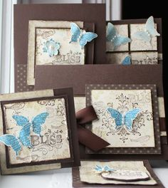 Stampin Up! Butterfly bliss!  So sweet!
