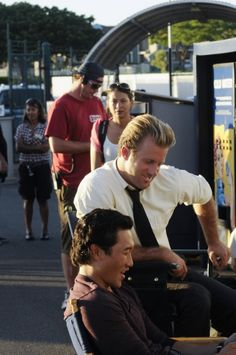Hawaii Five-0... Scott Caan & Daniel Dae Kim on the set