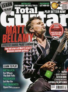 MUSE : Matt Bellamy_July 2015 - (Manson custom guitar) Total Guitar Magazine
