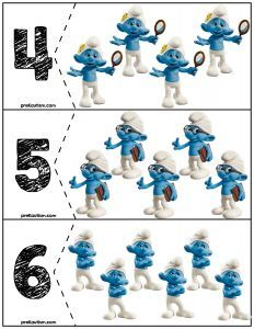 FREE Smurf Quantity Puzzles! Great for prek & kinder math centers.