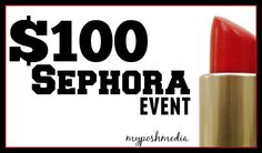 #Win a $100 #Sephora Gift Card! #Giveaway ends 7/26.