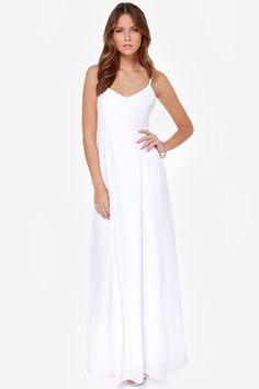 BB Dakota Loulla White Maxi Dress at Lulus.com!