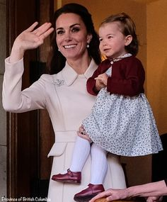 Another view of Charlotte and Kate as they were leaving Government House.