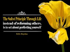 """""""The safest principle through life, instead of reforming others, is to set about perfecting yourself. Haydon quote as desktop wallpaper here! Inspirational Desktop Wallpaper, Motivational Wallpaper, Desktop Wallpapers, Free Inspirational Quotes, Inspiring Quotes About Life, Life Lesson Quotes, Life Lessons, Thinking Quotes, Picture Quotes"""