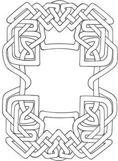 knotted circle Celtic Knots, Celtic Symbols, Celtic Art, Celtic Patterns, Celtic Designs, Line Doodles, Wood Carving Patterns, Outline Drawings, Thread Painting