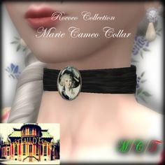 a95c736d0 Second Life Marketplace - ~CdE~ July GROUP GIFT - Marie Cameo Collar Second  Life