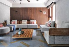 Ahmedabad, Living Area, Living Spaces, Living Rooms, House Rooms, Kitchen Living, Air Lounge, Brick Flooring, Kota Stone Flooring
