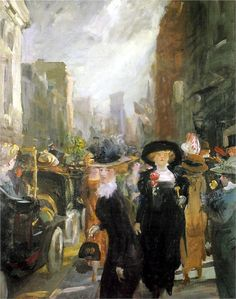 John French Sloan (American 1871–1951) [Ashcan School, The Eight] Fifth Avenue, New York, 1911.