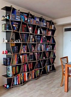 Cool Home Library Ideas. Decorate your home library so it becomes your private sanctuary where you can read, study and relax. Creative Bookshelves, Decorating Bookshelves, Bookshelf Design, Bookshelf Ideas, Bookshelf Styling, Book Shelves, Wall Shelves, Bookshelf Inspiration, Rustic Closet