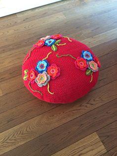 1000 images about poef omhaken on pinterest poufs haken and crochet - Eigentijdse pouf ...