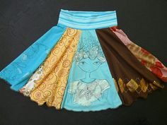 upcycled skirt-- perfect for Imogen's outgrown shirts!!!