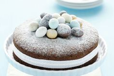 Topped with Easter eggs and icing sugar, this cake makes a perfectly sweet statement on Easter Sunday. Wishing you all a very safe and happy #Easter!