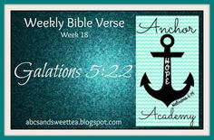 ABC's and Sweet Tea: Bible Verse - Week 18 {{with link-up}}