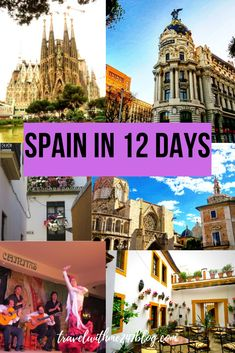 Read cities and places to visit in Spain within 12 days. Detailed information about city guides, day trips from cities of Spain. Places included - Barcelona, Valencia, Seville, Malaga and Madrid with all useful tips and information. #Spain #barcelona #Madrid #SpainItinerary