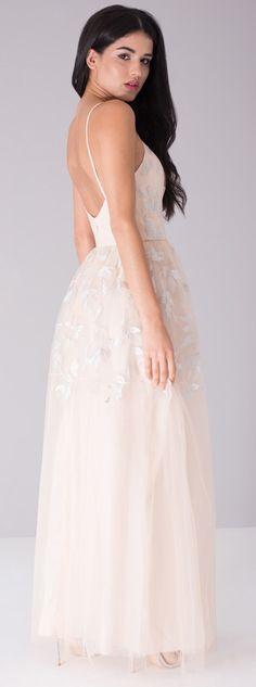 Chi Chi London plesové šaty Briana, béžové