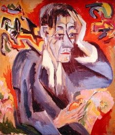 Famous paintings of Portraits: Portrait of the Poet Frank