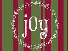 Joy, Joy, Joy   blissfully buis Christmas Words, Merry Little Christmas, Christmas And New Year, Christmas Holidays, Christmas Crafts, Christmas Decorations, Holiday Decor, Holiday Ideas, Christmas Printables