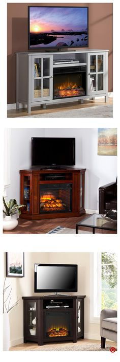 Shop Target for tv/media stand fireplace you will love at great low prices. Free shipping on orders of $35+ or free same-day pick-up in store. Apartment Furniture, Apartment Living, Living Room Furniture, New Living Room, Home And Living, Fireplace Tv Stand, Room Setup, Electric Fireplace, Console Storage