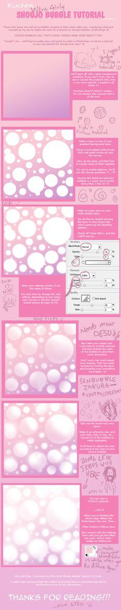 Tutorial: Shoujo Bubbles by kuchinawa.deviantart.com on @deviantART