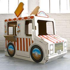 Cardboard ice cream play truck