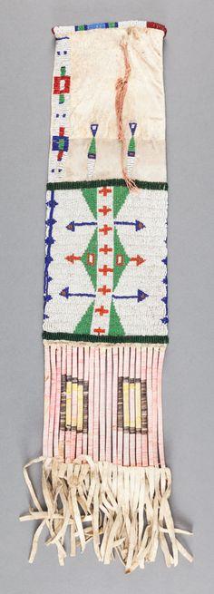 Сумка для табака Сиу, период 1910 гг. Изображение 1.