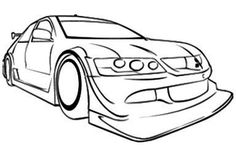 Cool Race Car Coloring Page - Race Car car coloring pages