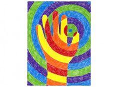 Warm Hands Color Lesson Project