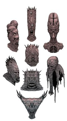 Demon-Heads by SOPossum on deviantART ✤ || CHARACTER DESIGN REFERENCES | キャラクターデザイン | çizgi film • Find more at https://www.facebook.com/CharacterDesignReferences & http://www.pinterest.com/characterdesigh if you're looking for: bandes dessinées, dessin animé #animation #banda #desenhada #toons #manga #BD #historieta #sketch #how #to #draw #strip #fumetto #settei #fumetti #manhwa #cartoni #animati #comics #cartoon || ✤