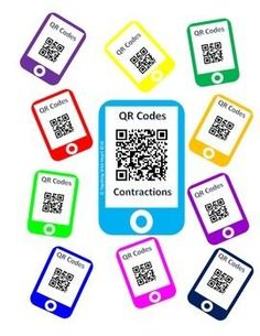 QR Code Contractions Task Cards FREE!  QR Codes are the next big thing! QR Codes are a phenomenal way to incorporate technology to make your lessons more engaging. All you need is to cut and laminate, and you're ready to go! I like to place these at a work station with a device that can read QR Codes.