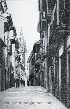 Oviedo. Colección paisajes a plumilla. Año 2011