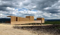 Kielder observatory in Northumberland by Charles Barclay. Siberian Larch cladding.