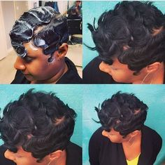 8 Finger Wave Styles Perfect For The Woman That Prefers Short Hair [Gallery]  Read the article here - http://www.blackhairinformation.com/general-articles/playlists/8-finger-wave-styles-perfect-woman-prefers-short-hair-gallery/