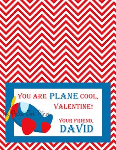 Airplane Valentines Goodie Bag toppers with by ThePolkaDotPrince, $12.00