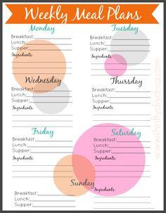 Free Weekly Meal Menu Planning #Printable http://thriftydiydiva.com/free-weekly-meal-planning-printable/ #menuplanning #mealplanning