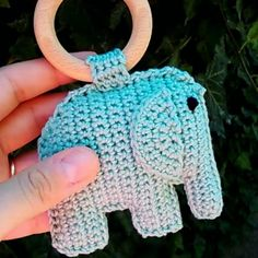 New teething elephant buddies... Made with cotton thread and wooden ring that is soaked in organic coconut oil #craft #crafty #crochetfingers #crohetporn #craftastherapy #teething #craftyfingers #croche #crocheting #crochetaddict #crochet #crochetcookies #crochetlove #crochetgasm #wood #teeth #cotton #hoth #lovecrochet #cute #toddler #teethers #babies #babygirl #babyboy #baby #etsyshop #etsy #teether