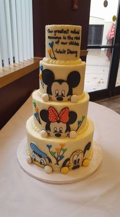 Mickey and Friends side of 360 Baby Shower Cake