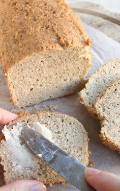 A quick and easy almond flour bread that does not taste eggy. The perfect keto s… A quick and easy almond flour bread that does not taste eggy. The perfect keto sandwich bread! Gluten free and low in carbs. Coconut Flour Bread, Almond Bread, Almond Flour Recipes, Baking With Almond Flour, Coconut Oil, 90 Second Keto Bread, Best Keto Bread, Low Carb Recipes, Bread Recipes