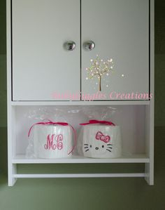 Need these for my bathroom! hello kitty personalized toilet paper set by BabyGigglesCreations, $10.00