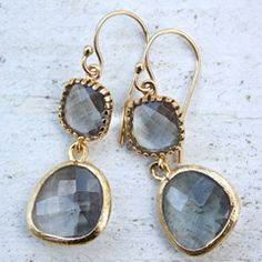 Drops of Jupiter Earl Grey Gold Earrings TT32